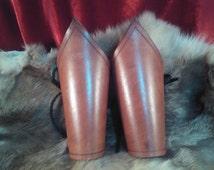 Leather Bracers Vambraces Cuffs - Female Armor - Steampunk Cosplay LARP Ren Faire