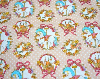 Merry Go Round and castle  print Half meter 50 cm by 106 cm or 19.6 by 42 inches