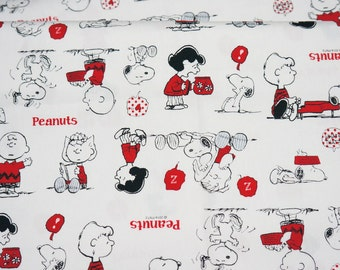 Snoopy print Japanese fabric 50 cm by 53 cm or 19.6 by 21 inches Fat Quarter A9
