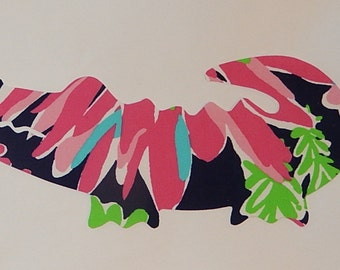 New Made To Order Gator Pillow made with New Authentic Lilly Pulitzer fabrics, choose from over 30 prints