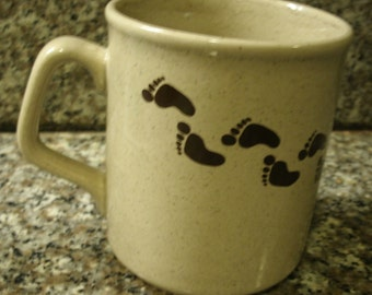 Made in England Repeating Footprints Tea  Coffee Mug