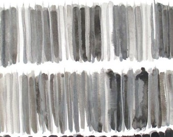 Wavelength II, india ink, acrylic, gray, abstract art, lines, chiaroscuro