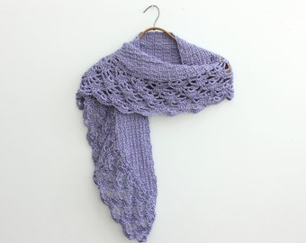 Lace Scarf, Evening Shawl, Custom, Chose Color,  Hand Crocheted Scarf,  Womans Scarf, Vegan Scarf