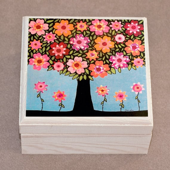 Jewelry Box Wooden Handmade Jewellery Box Flowering Tree