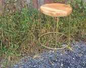 Bourbon Street - Brass and Reclaimed Wood Bar Stools