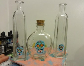 Blue Sugar Skull Day of the dead Wedding Sand ceremony set mexican wedding must have