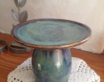 Stoneware Pedestal Serving Dish