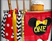 Minnie Mouse Birthday Highchair Banner/Photo Prop/Polka dot/I am one banner/First birthday/Photo Prop Backdrop