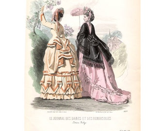 French antique Paris fashion print