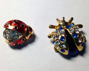 Vintage BUGS! - LOT of Stunning Butterflies, Ladybugs, Dragonflies - Brooches & Earrings