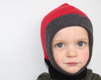 Balaclava - Pure Wool Hat - LOON - Custom Size newborn to 8T