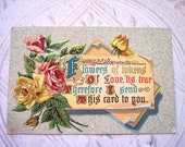 Antique Embossed Postcard Love Valentine Flowers Circa 1910 E Sander