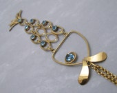 Long Fish Pendant Gold Filled Necklace Almost 6 Inches Sixties Jewelry N6303
