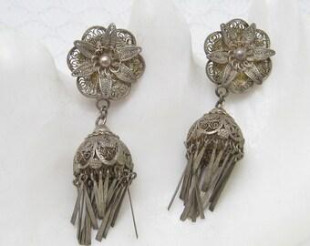 Vintage Lantern Earrings Filigree Nemo Vintage Jewelry E6281