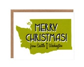 Merry Christmas from Seattle -- Fun Holiday Cards