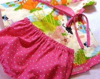 Baby Kimono - The Original LivvySue Kimono Bloomer Set in Aoi Has 2 Sisters