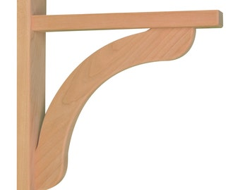 Wood Shelf Bracket- Cherry Concave 10