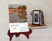 2015 Art Calendar - Rome Love - Desk Dorm Decor - FREE SHIPPING