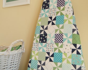 Ironing Board Cover - Country Patchwork in Navy - Riley Blake