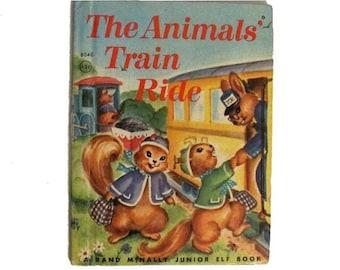 The Animals Train Ride - Mariam Potter - Rand McNally - 1953