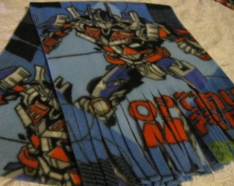 500+ Scarf Print Selection! Only at SylMarCreations!  Last One * Transformers Winter  Fleece Scarf Optimus Prime * Fringe or Infinity Scart