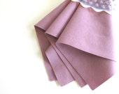 Soft Plum, 100% Wool, Felt Material, Choose Size, DIY Craft Supply, Felt Flowers, Wool Applique, Light Purple, Doll Making Supply, Washable