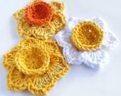 Crochet flower patterns crochet applique patterns flower crochet pattern crochet daffodil pattern