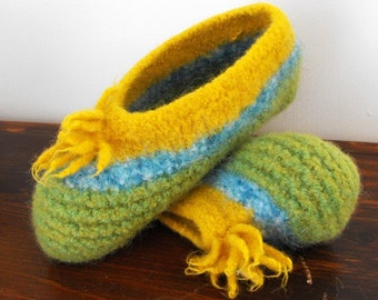 35% Knitted Felted Wool Slippers for Women Teenagers