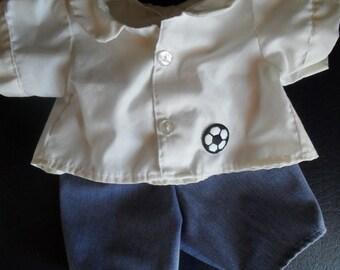 Soccer Set of Pants Shirt fits Build a Bear or Hello Kitty HandMade