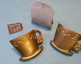 Pr TEACUP KNOBS, Spota Tea Knobs,Gold Teacup Knobs,Tea Lovers Gifts,Teacup Drawer Pulls,Coffee Cup Knobs,Novelty Door Knobs,Teacup Decor