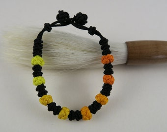 Korean Rainbow Maedeup Bracelet 3 - Oranges and Yellows