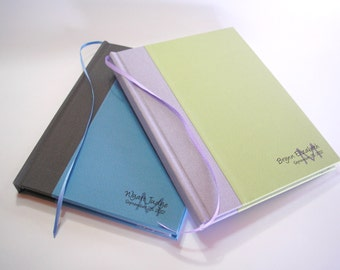 """Custom Journal/Diary - You Design the Cover. 5 x 7"""". Made to order notebook. Blank."""