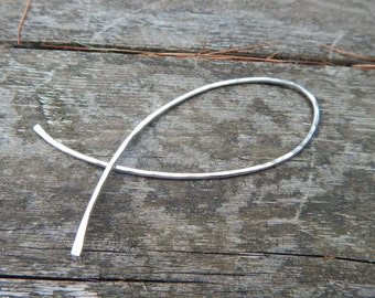one fish, two fish sterling silver shawl or scarf pin