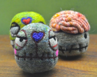 Wool Zombie Eggbox Toys Ready to Ship