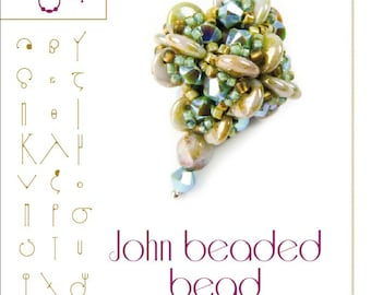 John -Beaded Bead Pattern with lentil - PDF instruction for personal use only