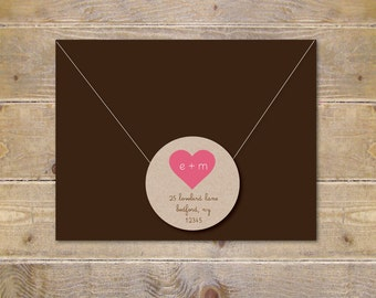 Address Labels . Return Address Labels . Recycled Address Labels . Wedding Invite Address Label . Save The Date . Bridal Shower - Initials