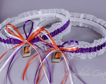 Phoenix Suns Lace Wedding Garter Set