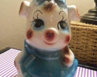 Sweet Vintage Big Eyes Ceramic Big  Bank