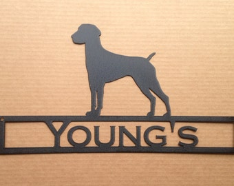 German Shorthair with Personalized Text Field (G22)