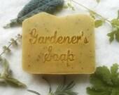 Gardeners Soap - Herbal Soap - Scrubby Soap - Pumice Soap - Handmade soap - vegan soap