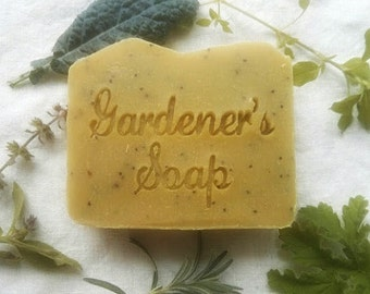 Gardeners Soap - Herbal Soap - Scrubby Soap - Pumice Soap - Handmade soap - vegan soap