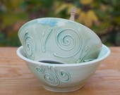 SALE Green Pate/Sauce Serving Bowls by Bunny Safari