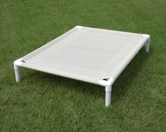 sale 24x34 ready to ship mesh bed almond outside pvc pipe raised bed small dog bed puppy bed elevated bed cat bed handmade dog beds