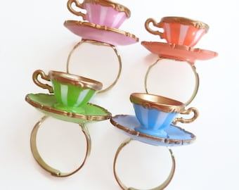 Alice in Wonderland Teacup Ring Your Choice