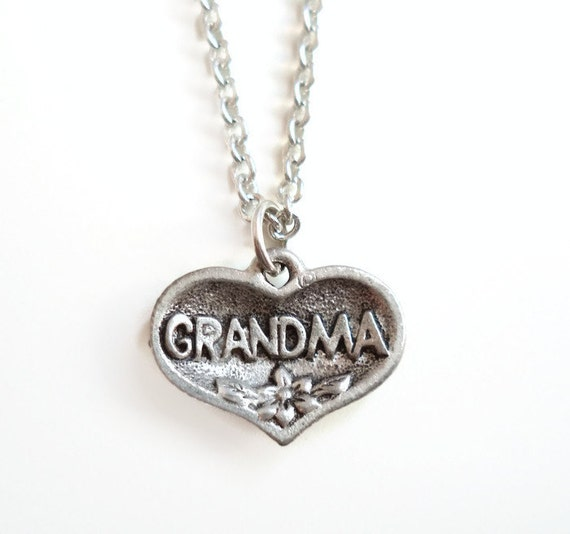 Grandma Heart Charm Necklace  - Grandmother Gift