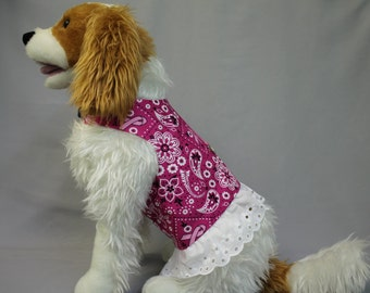 LARGE DOG HARNESS Breast Cancer Dress