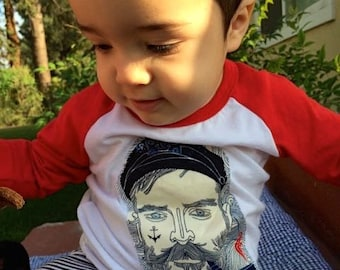 Salty SEA Captain BOYS Raglan Tee Sizes 3 Months to 4/5