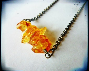 Chunky Raw Amber Nugget Necklace