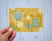 POSTCARD: Lemon Water