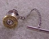 Bullet Tie Tack 357 Magnum Recycled Repurposed
